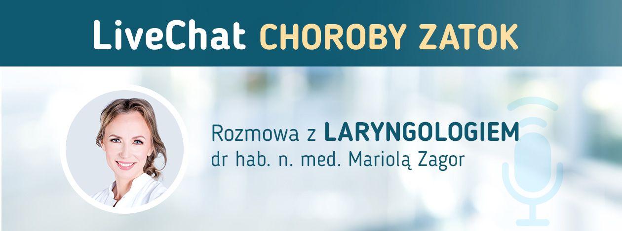LiveChat - Choroby Zatok - Rozmowa z laryngologiem dr hab. n. med. Mariolą Zagor