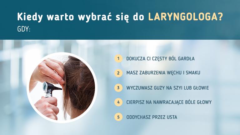 Kiedy warto wybrać się do laryngologa? Infografika