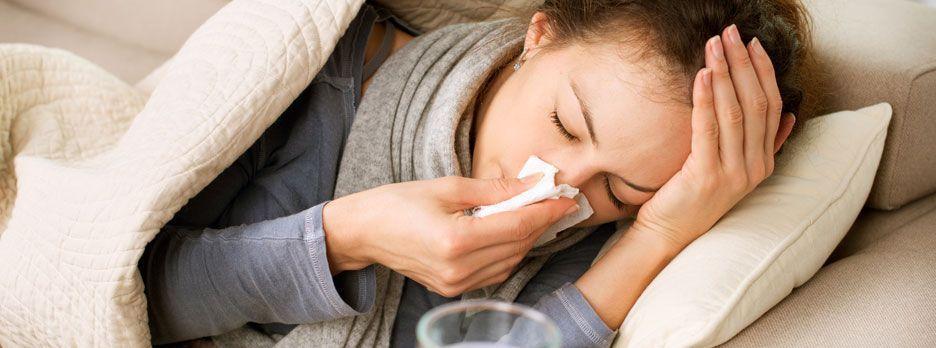 Przeziębienie, bóle głowy, twarzy