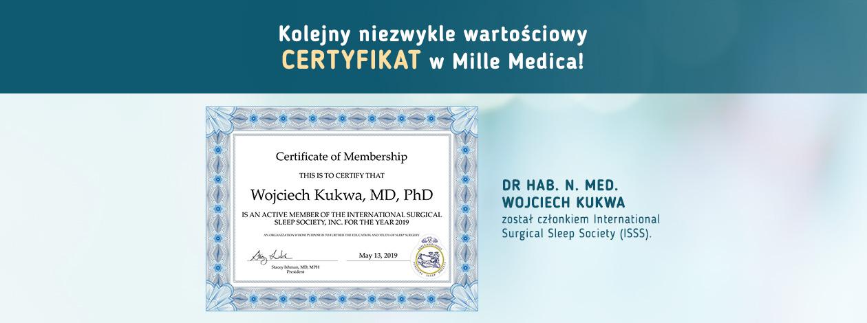 Certyfikat Dr hab. n. med. Wojciech Kukwa International Surgical Sleep Society