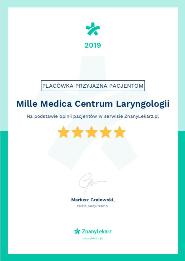 certyfikat klinika przyjazna pacjentom znany lekarz